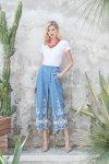 Pantaloni blu - Roberta Biagi - Colore denim - Pizzo