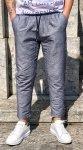 Pantaloni uomo - Blu chiaro - Con lacci - Lino-Cotone