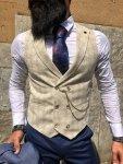 Gilet uomo beige - Sottogiacca elegante con catena