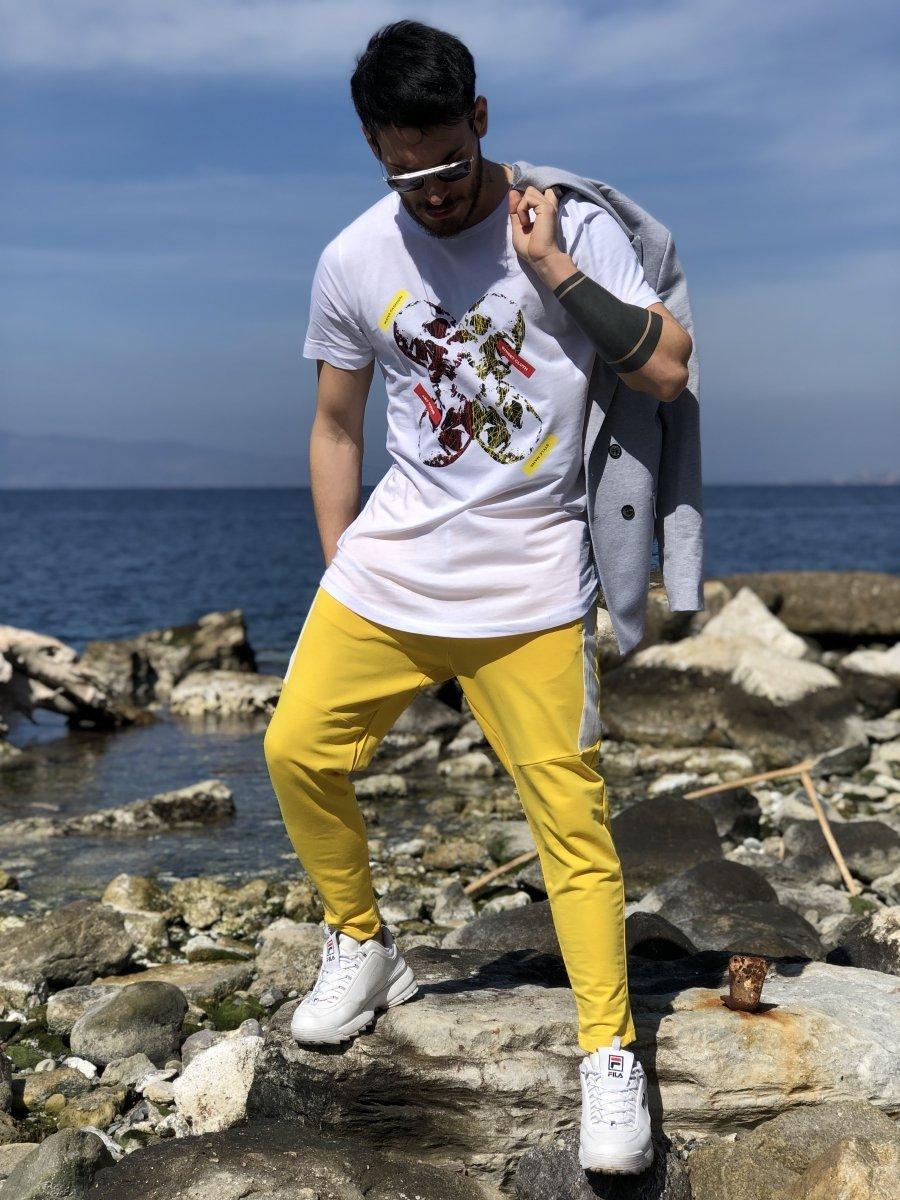 c3573a7cc203fe Pantatuta uomo giallo - Pantaloni sportivi - Sport wear - Gogolfun.it