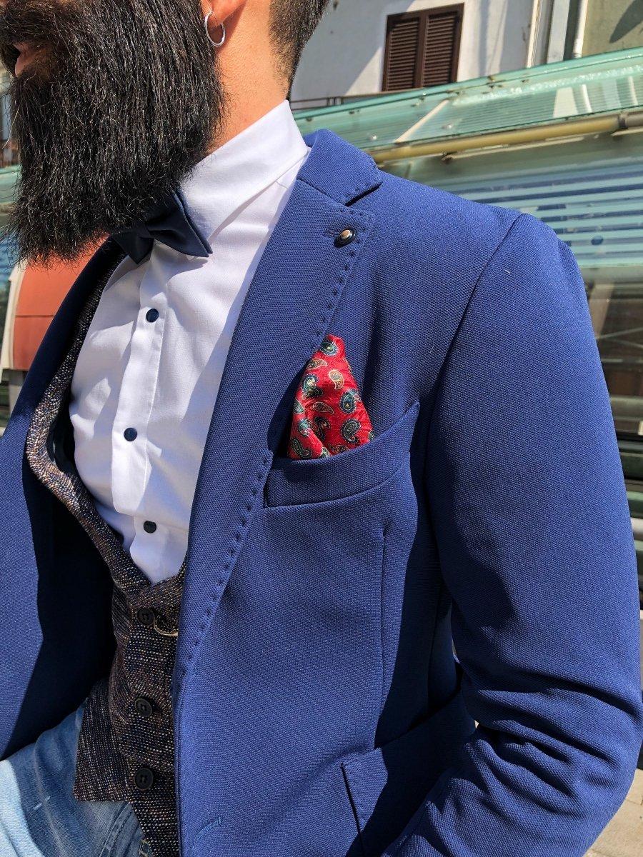 design di qualità 899d8 8ee5e Giacca uomo blu - Giacche uomo sportive - Blazer Uomo ...