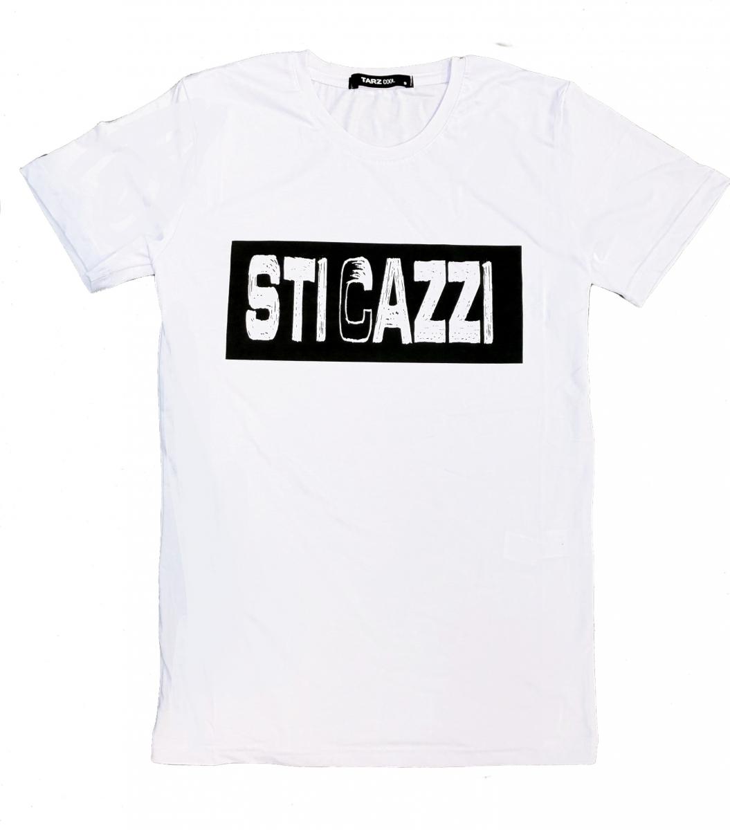 wholesale dealer e3ce7 f9c37 T shirt donna - Maglietta bianca con Scritta divertente - T shirt sti cazzi
