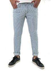 Pantaloni uomo slim - Key Jey - Pantaloni a righe