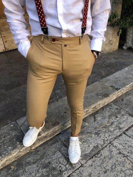 Pantaloni uomo online -Pantaloni uomo beige - Gogolfun.it