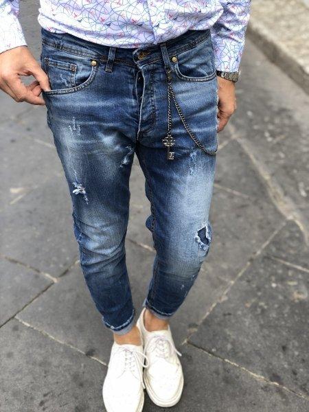 Jeans strappati - Abbigliamento uomo - Gogolfun.it