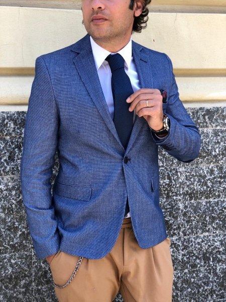 Giacca uomo slim, blu - Gogolfun.it