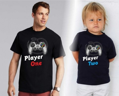 T shirt - Nere - Papà e bimbo - Player - Gogolfun.it