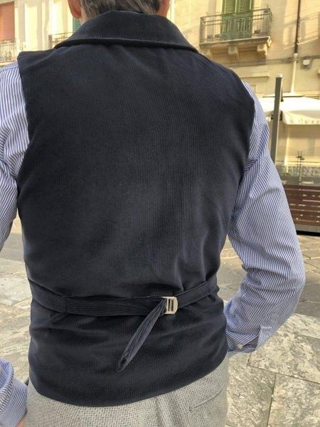 Panciotto - Blu - In velluto - Abbigliamento uomo - Gogolfun.it
