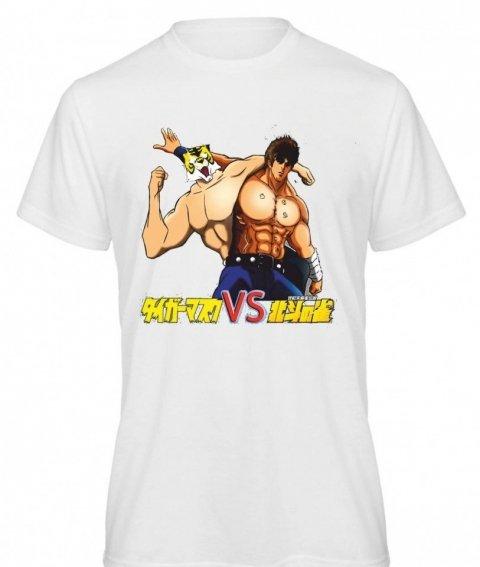 T-shirt - bianca - Stampa Tiger man - Mezze maniche