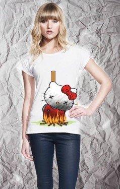 T shirt Hello Kitty - Bianca - Gogolfun.it