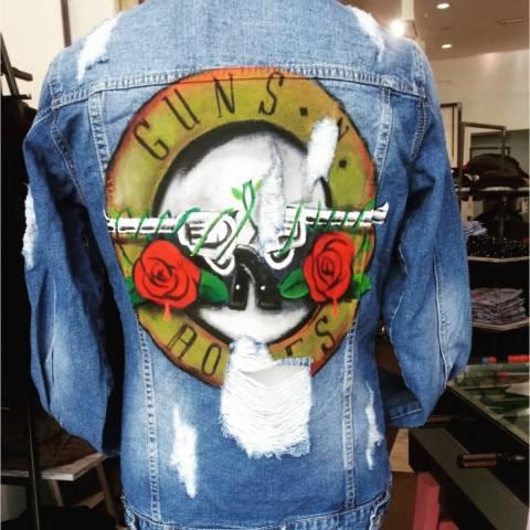 Giubbotti di jeans - Guns and roses - Rock - Gogolfun.it