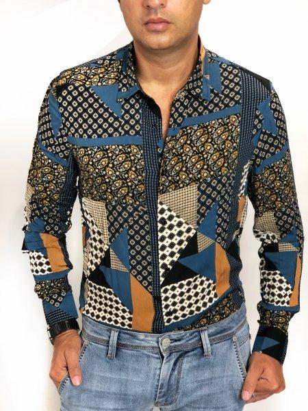 Camicia uomo, in viscosa - Collo classico - Abbigliamento uomo gogolfun.it
