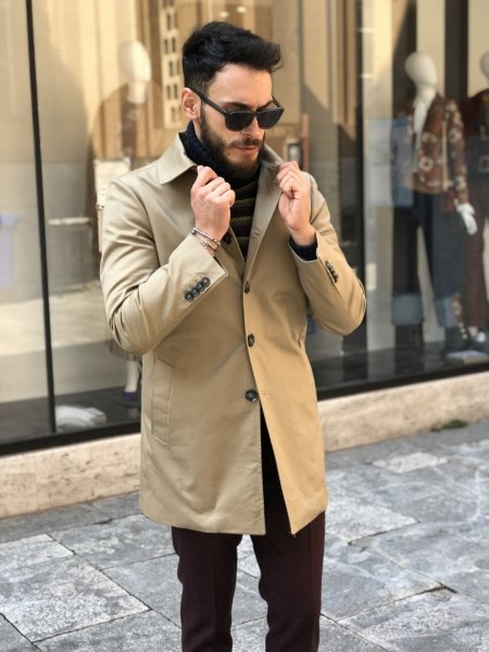 Trench beige - Paul Miranda - Cappotto cammello - Gogolfun.it
