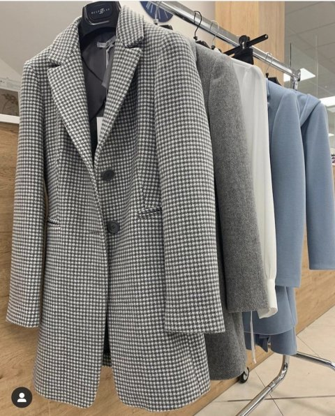 Cappotto, grigio in micro fantasia - Cappotto donna