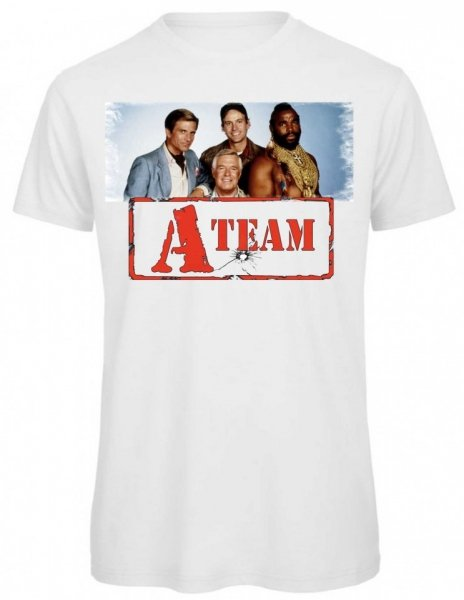 T shirt bianca - Maglietta A Team -  T-shirt Gogolfun.it