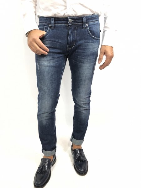 Jeans uomo, strappato - Key Jey, Skinny - Gogolfun.it