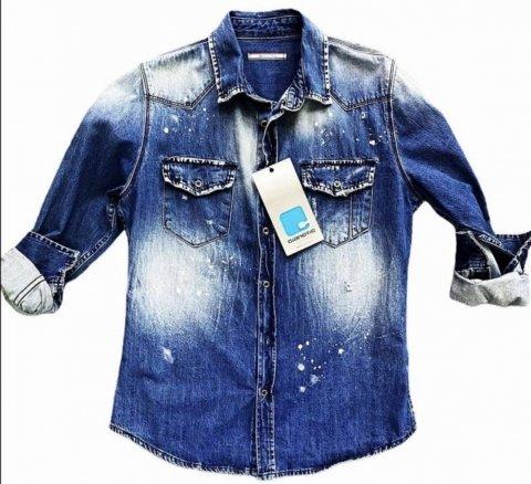 Camicia Jeans uomo - Slim - Usured
