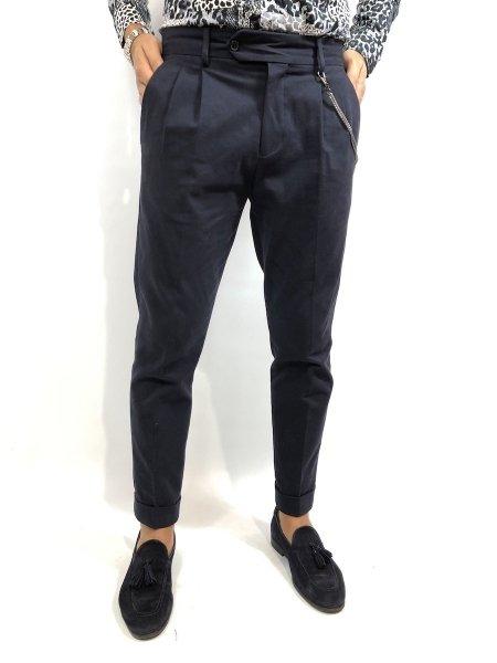 Spodnie męskie, granatowe - Chinos - Paul Miranda - Made in Italy - Odzież męska - Gogolfun.pl