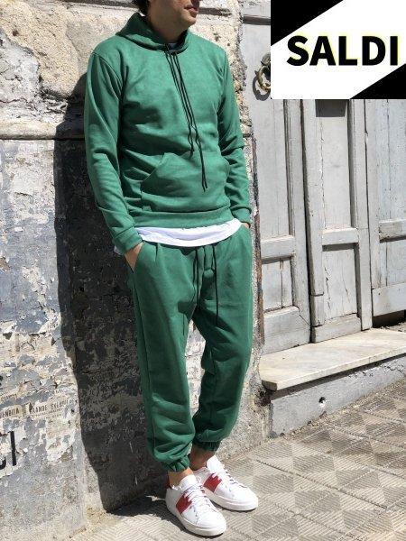 Tuta, verde in dainetto - Completo sportivo verde - Gogolfun.it