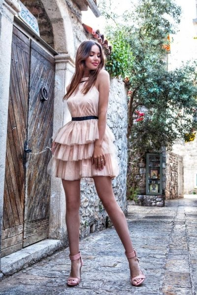 Vestito corto elegante - Rosa - Abiti donna gogolfun.it