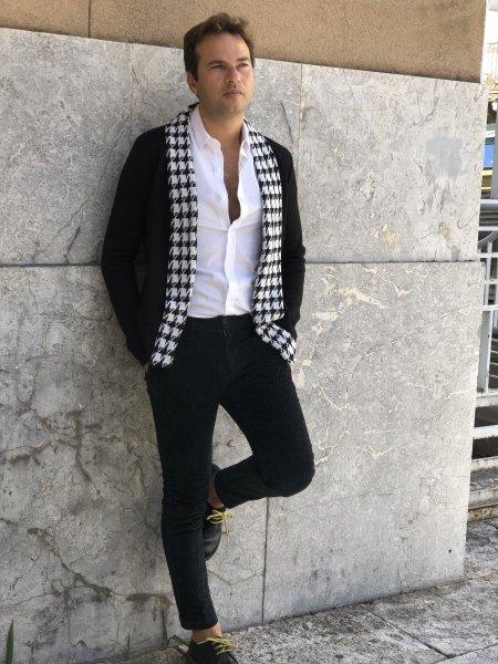Paul Miranda - Pantaloni uomo, in velluto - Nero