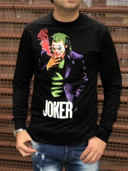 Felpa, nera manica lunga - Felpa, con Joker - Gogolfun.it