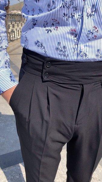 Paul Miranda - Pantaloni uomo vita alta - Nero