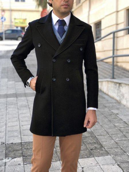 Cappotto nero, doppiopetto - Gogolfun.it