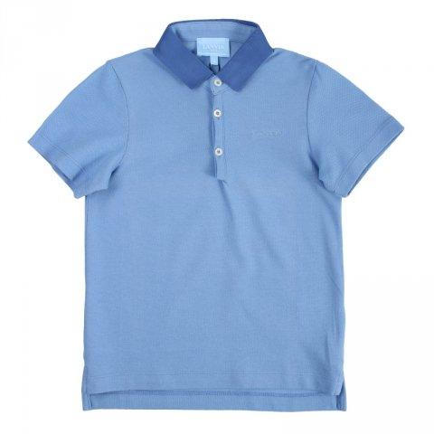 Polo bambino, azzurra - Lanvin - Abbigliamento bambini - Gogolfun.it