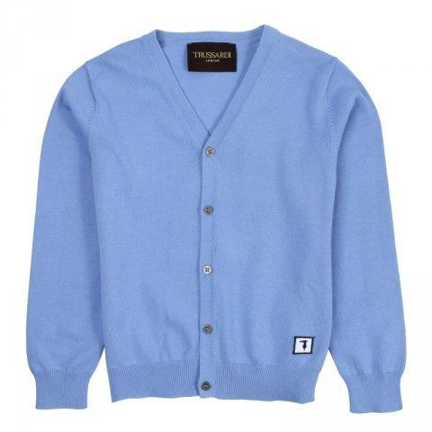 Cardigan azzurro, bambino - Trussardi - Abbigliamento bambino - Gogolfun.it