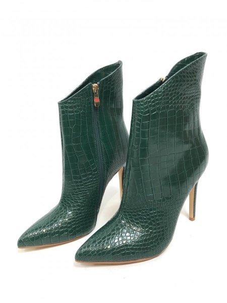 Scarpe tronchetto verde, tacco alto - Stivali corti, tacco alto - Negozio gogolfun.it