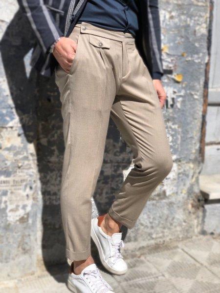 Pantaloni uomo, beige Crop - Paul Miranda