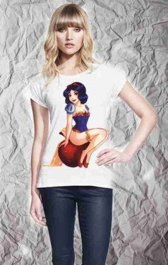T shirt donna - Biancaneve - Gogolfun.it