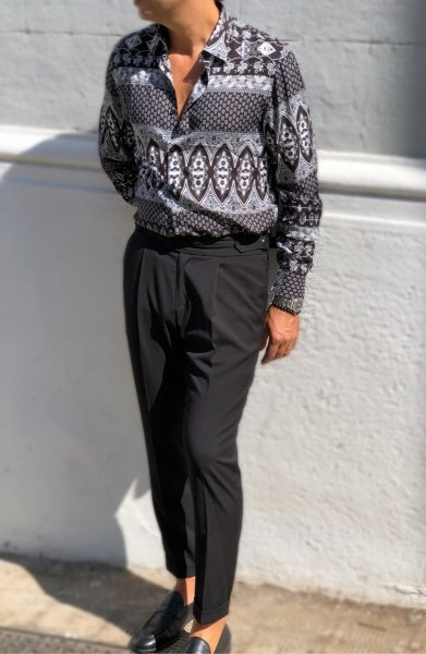 Koszula męska - Kolorowa - Model Slim- Made in Italy - Sklep internetowy - Gogolfun.pl