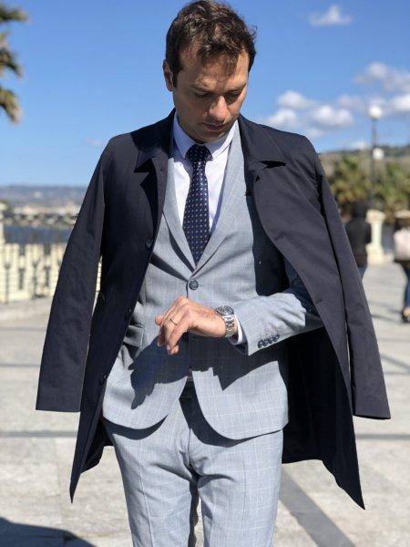 Abbigliamento uomo - Trench blu - Gogolfun.it
