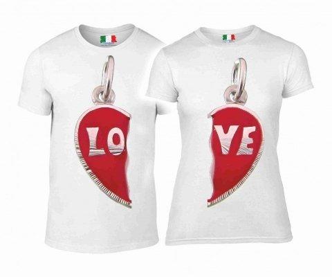 T shirt coppia - Bianca - Gogolfun.it
