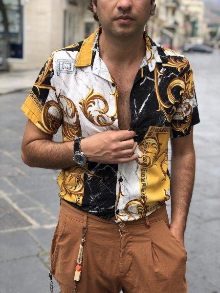 Camicia uomo disegno, disegno Versace