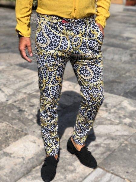 Pantaloni uomo particolari, fantasia - Tipo Versace - Gogolfun.it