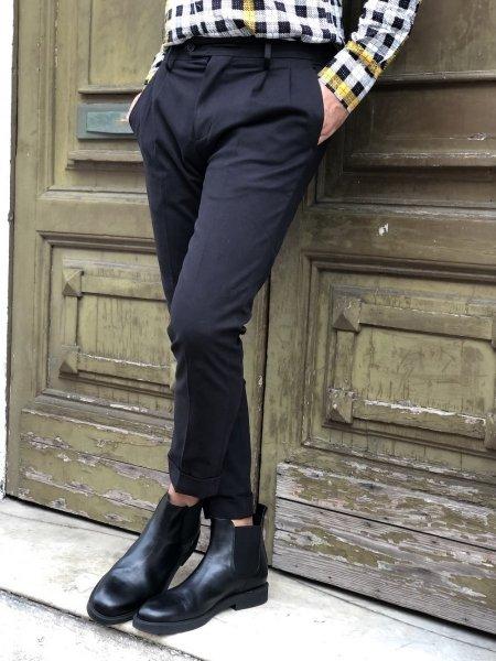 Pantaloni, con pinces blu - Paul Miranda, chino - Made in Italy