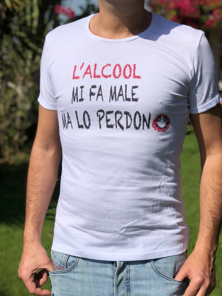 Tshirt - Ironica - Perdono - Shop - Online - Gogolfun.it