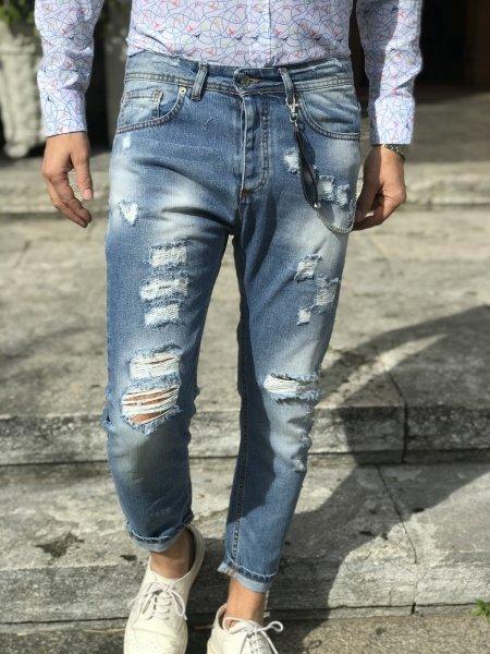 Jeans strappati uomo - Abbigliamento uomo - Gogolfun.it