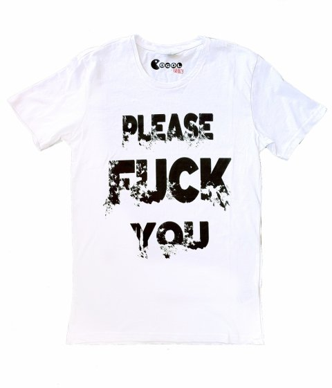 Tshirt - Please fuck you - Regalo  - Online Gogolfun.it