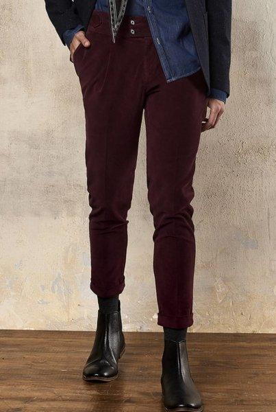 Pantaloni, bordeaux - Gogolfun.it
