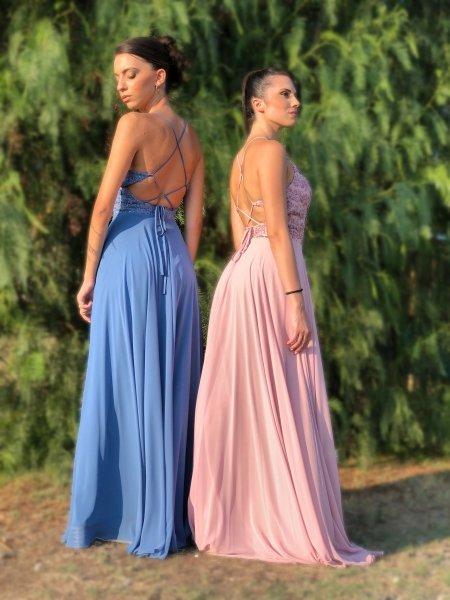 Vestiti eleganti, da cerimonia - Azzurro - Vestiti damigelle gogolfun.it