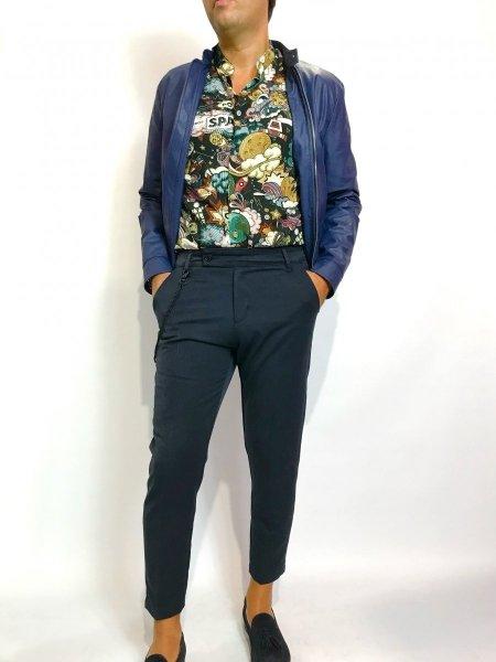 Camicia, fantasia uomo - collo coreano