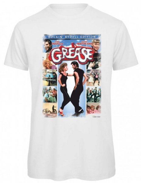 T shirt Grease - Maglietta bianca - Gogolfun.it