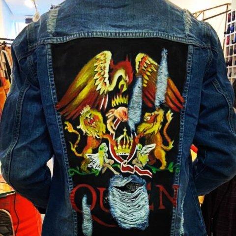 Giubbotto jeans - Queen - Rock - Online - Gogolfun.it