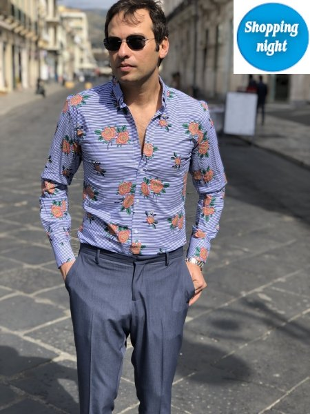Camicia uomo - Fantasia floreale - Slim fit