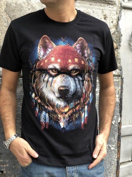 T shirt, nera fotoreattiva - Abbigliamento uomo gogolfun.it