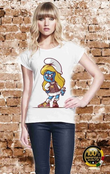 T shirt donna - Puffetta - Gogolfun.it